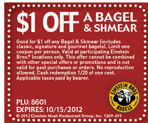 $1 Off a Bagel & Shmear