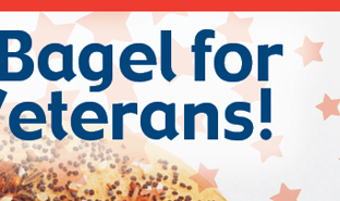 FREE Bagel for our Veterans!
