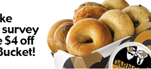 Please take our short survey and receive $4 off a Dozen Bucket!