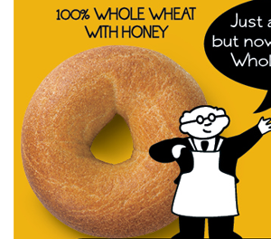 100% WHOLE WHEAT WITH HONEY
