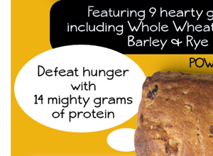 14 mighty grams  of protein