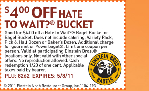 $4 off Hate To Wait?® bagel bucket
